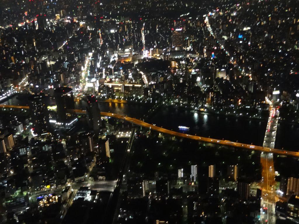 東京スカイツリー展望台からの夜景 柳瀬川のほとり